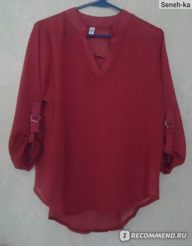 Блузка AliExpress Fashion Women Chiffon Shirt V Neck Casual Blouse Autumn Winter Long Sleeve Shirt Women Casual фото