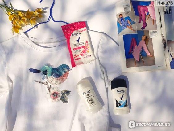 Влажные салфетки-антиперспирант Rexona Motionsense Яркий букет фото