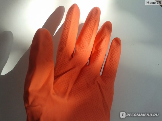 Перчатки хозяйственные Розумний вибір Латекс 100% фото