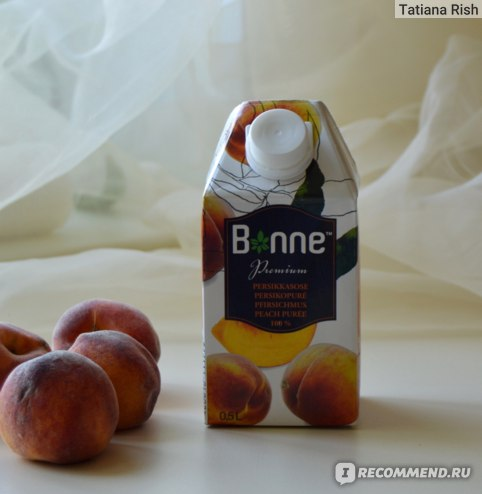 Пюре Bonne Premium Персиковое фото