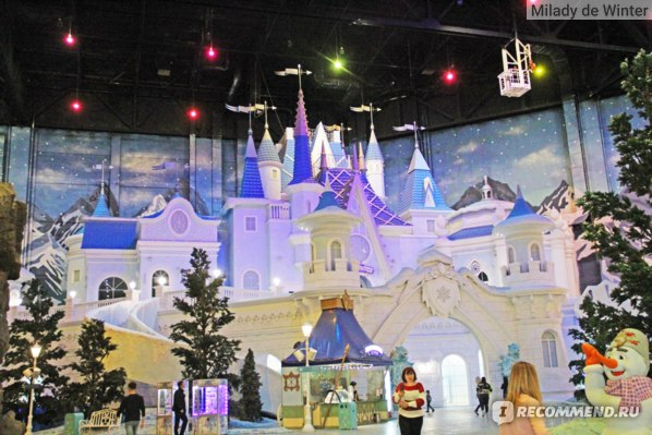 замок снежной королевы остров мечты