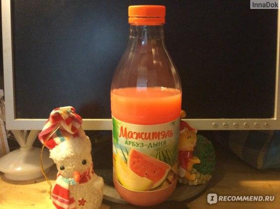 Напиток J7 сывороточный Мажитель с соком арбуза и дыни фото