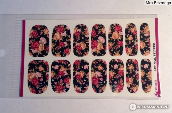 Наклейки для ногтей Aliexpress Water Transfer Nails Art Sticker Flowers Design Nails Foil Sticker Minx Harajuku Fashion Manicure Decor Decal фото