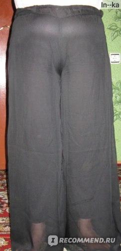 мама немножко поправилась за зиму) сейчас у неё 48 размер) сидят они на ней вот так) нижняя подкладка короче, чем основная длина брюк.