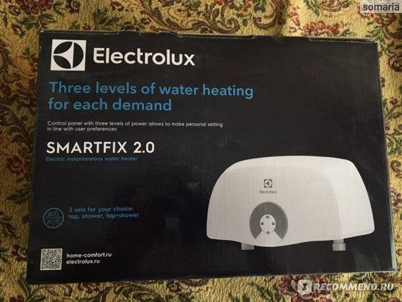Водонагреватель проточный Electrolux SMARTFIX 2.0 TS 5.5 kW (Душ+Кран) фото