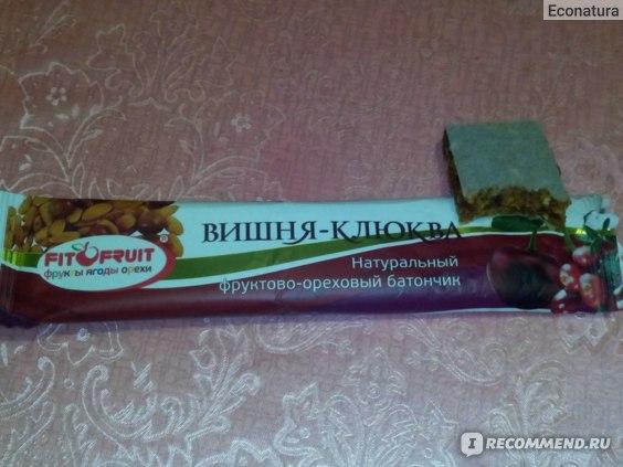 Фруктово-Ягодный батончик FITOFRUIT Вишня-Клюква фото