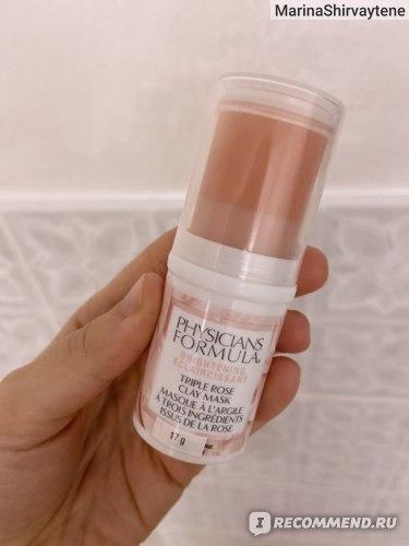 Маска для лица Physicians Formula Brightening Triple Rose Clay Mask Осветляющая Розовая глина фото