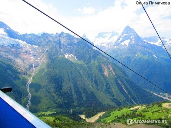 Вид на горы с Канатной дороги