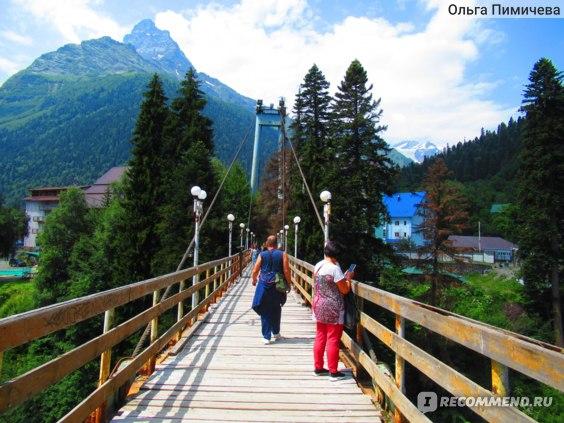 Домбай. Мост над рекой