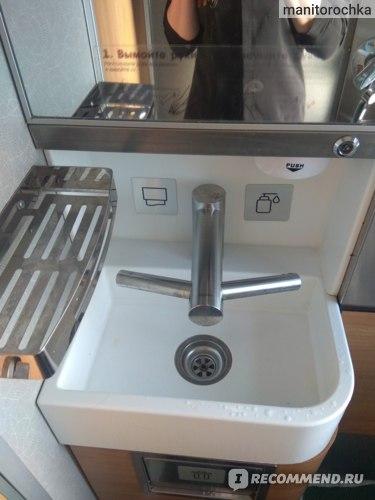 Рукомойник с сенсорным включением воды