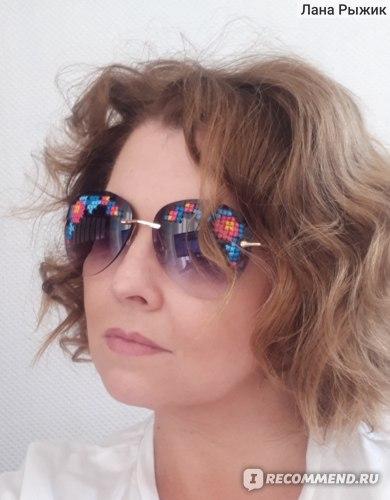 Солнцезащитные очки Fancy sunglasses с вышивкой фото