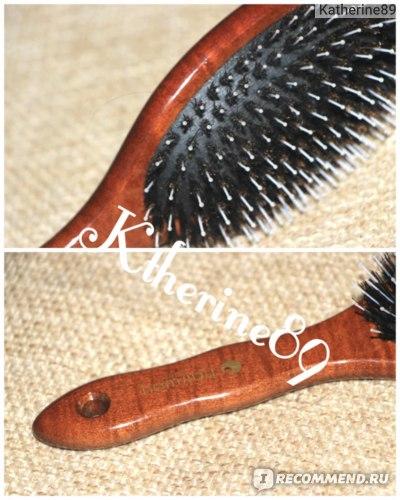 Щетка для волос HairWay Madam на деревянной основе 11-рядная (08187) фото