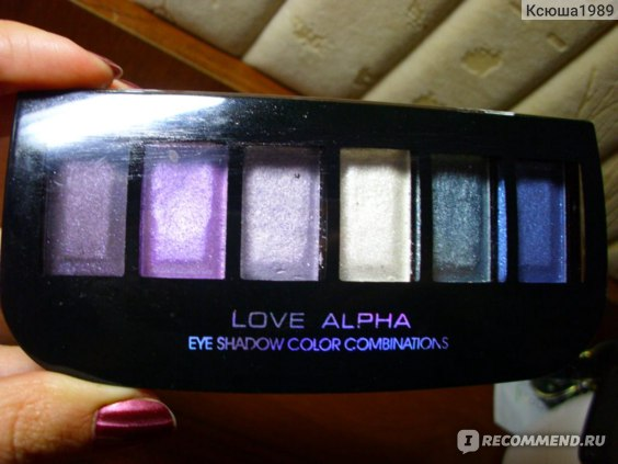 Тени для век LOVE ALPHA Eye shadow color combination фото