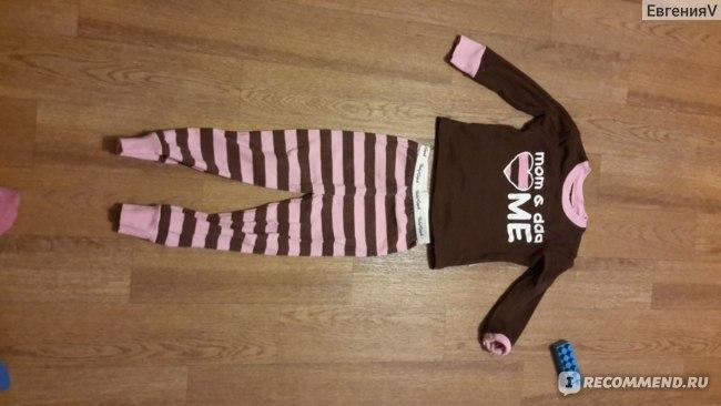 Пижама AliExpress 2014 New baby Pijamas Kids pajamas sets children sleepwear i love mom dad design pyjamas for boys and girls clothing sets фото