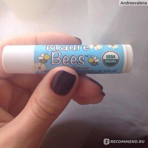 Бальзам для губ Madre Bees Organic Lip Balm Unflavored фото