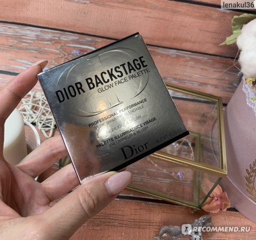 Палетка хайлайтеров Dior BACKSTAGE GLOW FACE PALETTE фото