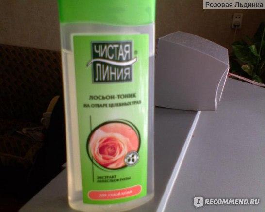 Лосьон-тоник Чистая линия Экстракт лепестков розы для сухой кожи фото