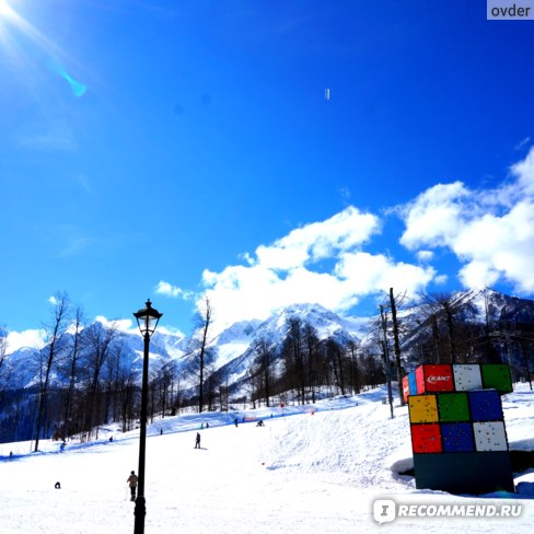 В лыжный сезон можно покататься на лыжах.