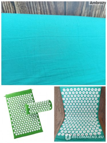 Массажный коврик Aliexpress Lotus Spikes Acupressure Mat and Pillow Set Massage Mat For Natural Relief Of Stress Pain Tension Spike фото