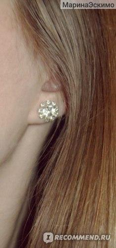 Серьги Aliexpress Bling zircon rhinestone ol bride accessories stud earring фото