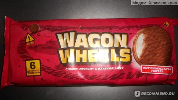 Печенье Wagon Wheels печенье с суфле,покрытое глазурью с ароматом шоколада. фото