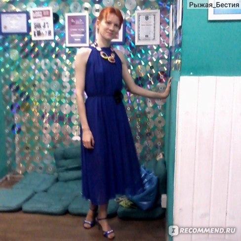 Платье AliExpress New 2015 Summer Bohemian Women Chiffon Sleeveless Spaghetti Strap Maxi Long Dress Vestidos With Sashes, 6 Colors, Size Free фото