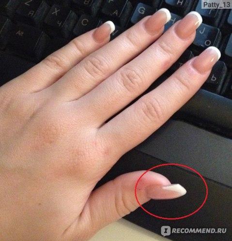 Наращивание ногтей на типсы фото