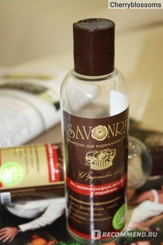 """Шампунь Savonry """"Фруктовые брызги"""" для нормальных волос фото"""