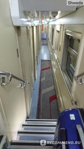 Лестница на 1-й этаж поезда