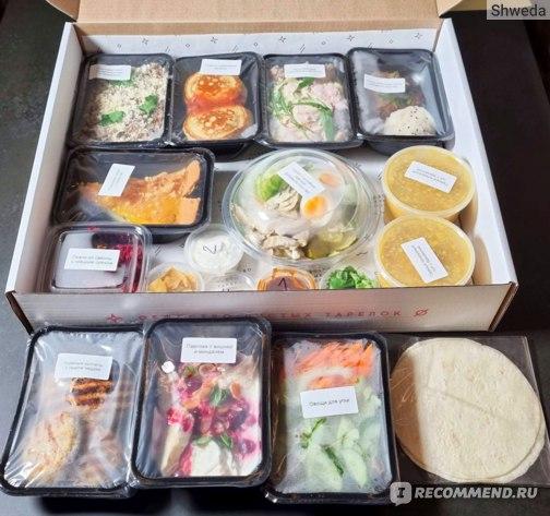 Большая коробка еды
