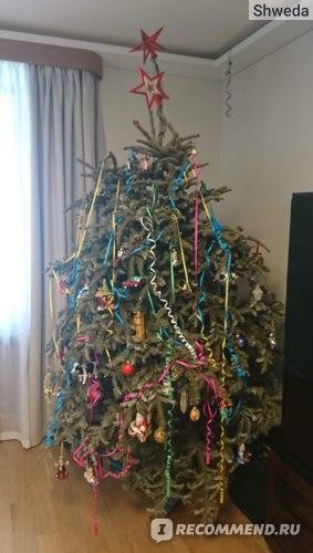 Как выглядит новогодняя елка 8 марта