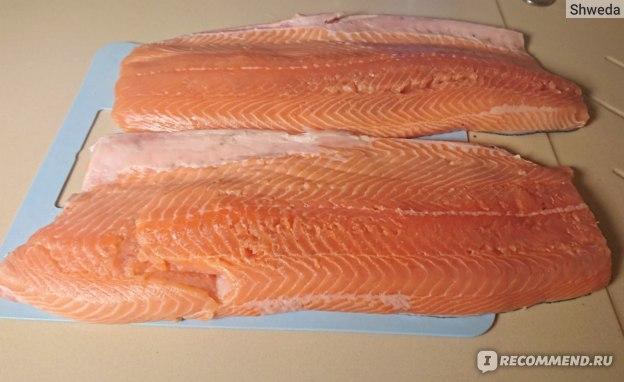 Филе лосося свежее