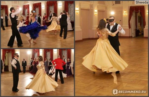 Платье красиво кружится в танце