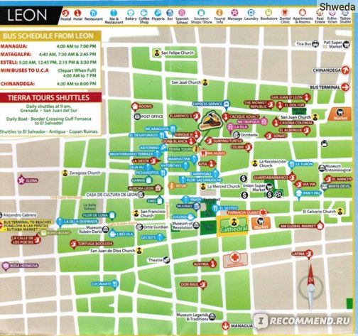Карта Леона