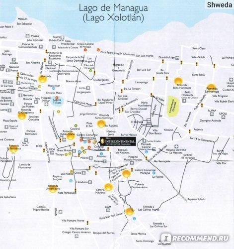 Самая подробная карта Манагуа