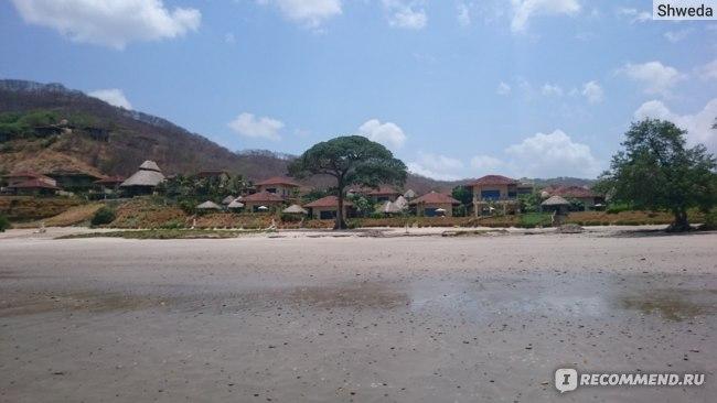Вид на отельный комплекс со стороны океана