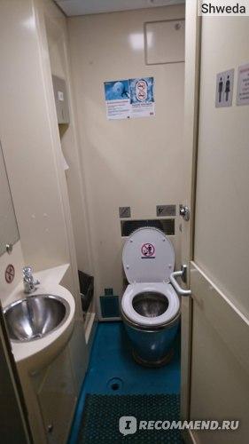 Кабинка туалета в поезде