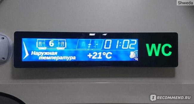 Информационное табло в поездке Ростов - Адлер
