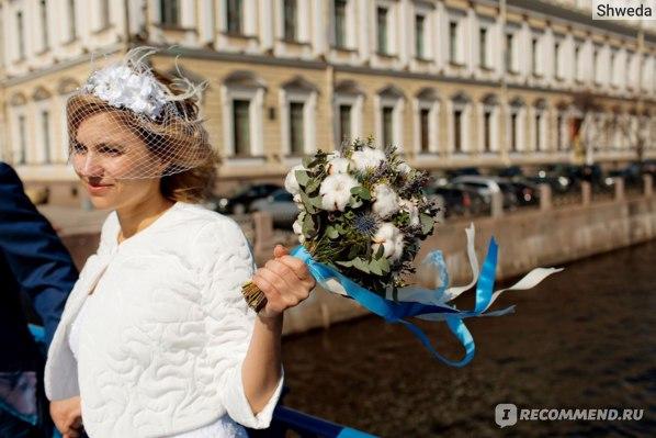 Ленты в свадебном букете