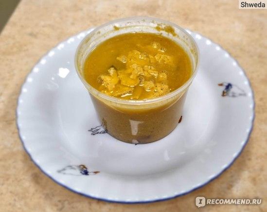 Пряный кукурузный суп с брезаолой