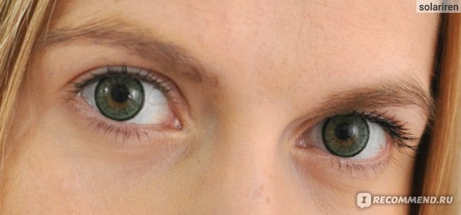 Adria elegant green - фото на глазах. Отзыв о линзах Адриа