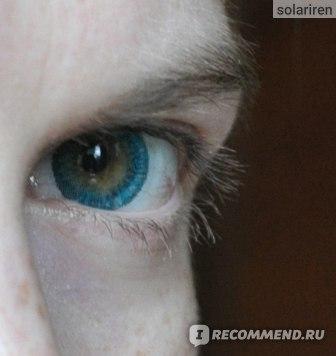 недорогие цветные линзы для глаз отзыв