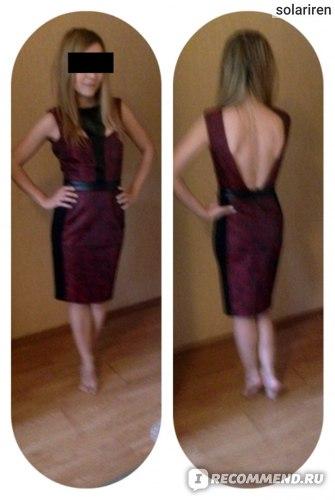 Платье ASOS Фактурное футляр эксклюзивно для PETITE Exclusive Textured Pencil Dress фото