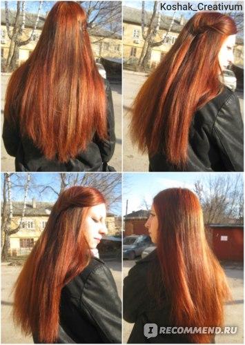 Через месяц. Волосы по состоянию ужас, да, смотрю на эти фото и не могу понять, почему я их еще полгода после этого не стригла?! О_о