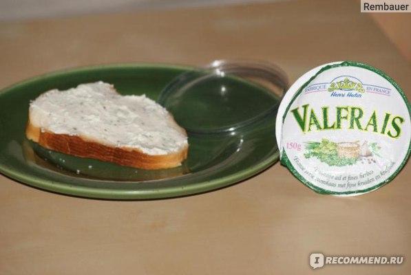 Сыр Valfrais Творожный с пряными травами и чесноком фото