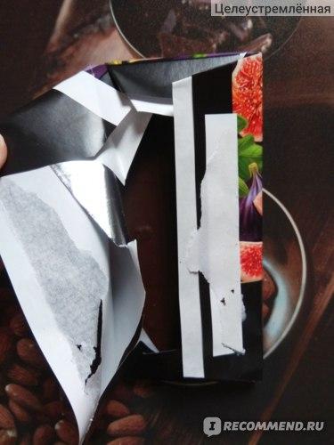 """Темный шоколад ООО """"АЙКО"""" с начинкой со вкусом инжира. фото"""
