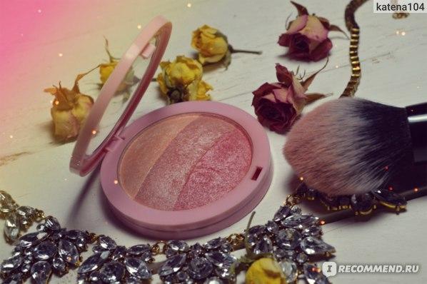 Румяна компактные Aliexpress By Nanda Brand Makeup Baked Blush Palette Face Pressed Powder Cheek Makeup 3 Color Blusher Blush Colorete Rouge Cosmetic фото