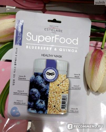 Тканевая маска для лица Institute Estelare Superfood Черника и Киноа фото