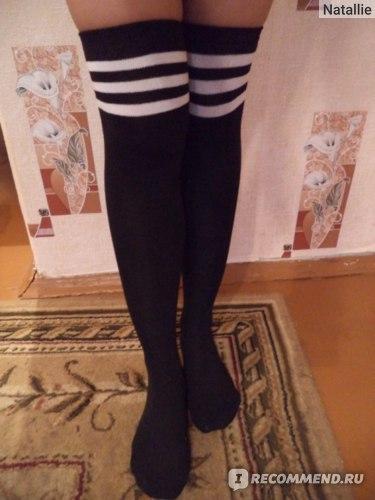 Чулки Tinydeal Casual Knit Striped Women's Socks & Stockings DST-261646 фото