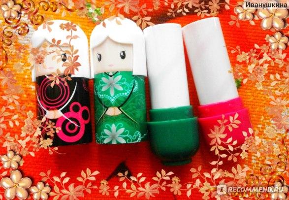Бальзам для губ Aliexpress 1piece 2015 New fruit nature lip lipstick Cute kimon doll lip balm nourishing moisturizing repair Lipstick фото